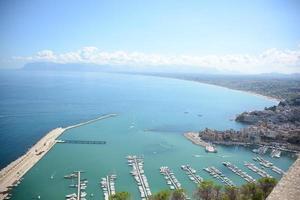 Blick auf den Golf von Castelammare Sizilien foto