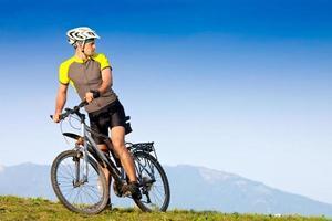 Mountainbiking foto