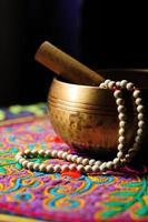 tibetische Schüssel foto