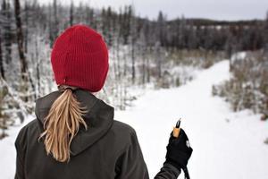 auf einen Ski foto
