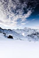 alpen, frankreich, skigebiet von val thorens foto