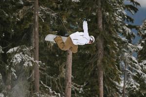 Snowboard b Seitenluft foto