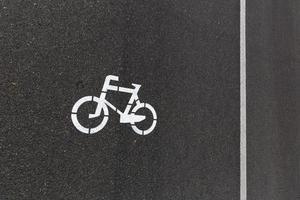 Strecke für Radfahrer foto