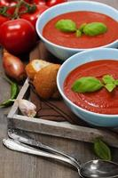 traditionelle Tomatensuppe foto