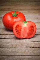 reife Bio-Tomaten foto