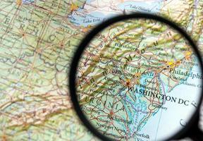 Washington DC auf einer Karte foto