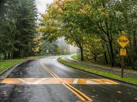 Kurve in der Straße foto