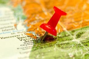 Seattle Wa City Pin auf der Karte