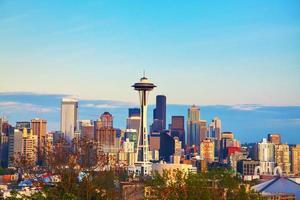Innenstadt von Seattle aus gesehen vom Kerry Park foto