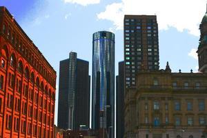 Innenstadt von Detroit foto