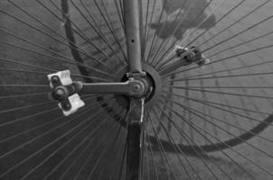 Vintage Fahrradteile, seltene Artikelkonzeption. foto