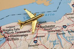 Flugzeug über New York