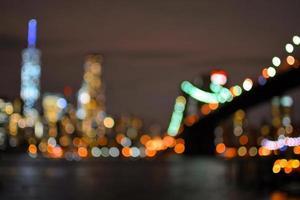 New York City in der Nacht foto