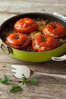 Reis Mangold gebackene Tomaten foto