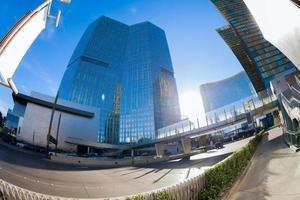 Ansicht von Wolkenkratzern in Las Vegas, Nevada, USA foto