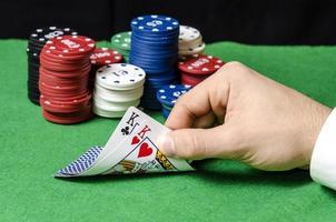Paar Könige im Poker foto