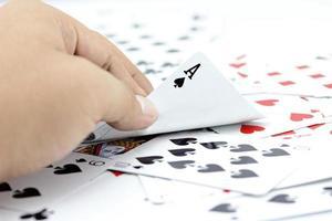 Ass-Spaten auf Stapelkarten