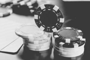 Pokerchips Karten foto