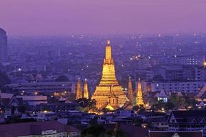 Bangkok der goldene Tempel.