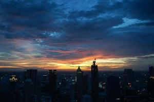 Blick auf die Stadt Bangkok foto