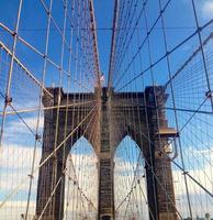 die Brooklyn Bridge in New York City