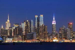 Manhattan Skyline über Hudson River foto