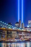 New York City mit 911 Lichtern