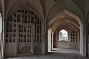 Golconda Fort in Hyderabad, Indien foto