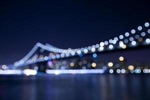 Manhattan Brücke defokussierten Hintergrund foto