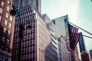 architektonisches Erscheinungsbild der Straßen von New York foto