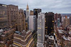 Luftaufnahme von New York City Manhattan foto