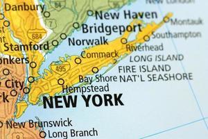 New York Bereich auf einer Karte