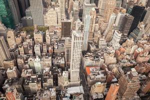 Luftaufnahme der Innenstadt von Manhattan New York City foto