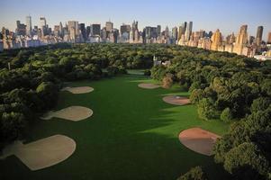 New York Manhattan bei Sonnenaufgang - Blick auf den Central Park foto