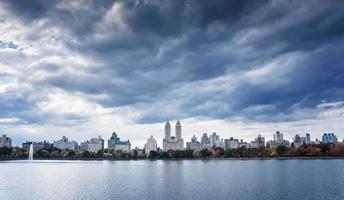 Skyline der oberen Westseite vom Central Park, New York City
