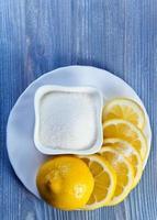 Zitrone und Zucker foto