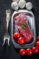 rohes Steak.