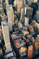 Manhattan Wolkenkratzer Luftaufnahme foto