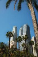 Wolkenkratzer in der Innenstadt von Los Angeles foto