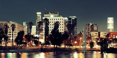 Los Angeles in der Nacht foto