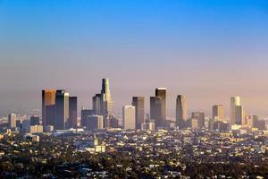 Innenstadt von Los Angeles Skyline foto
