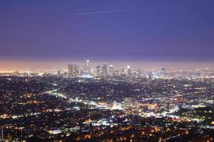 Innenstadt von Los Angeles in der Nacht foto