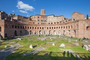 das trajans forum (foro di traiano) in rom, italien foto