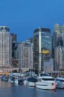 Hong Kong Hafen in der Nacht