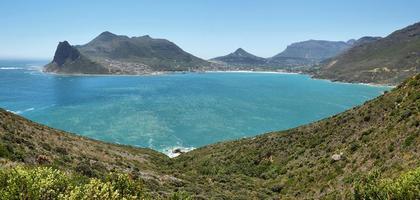 Blick auf die Bucht vom Chapman's Peak foto