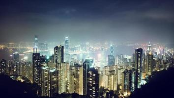 Hong Kong Island von Victorias Gipfel