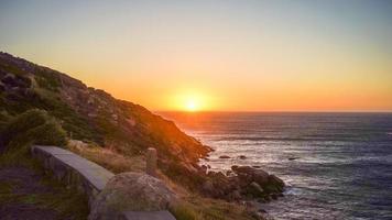 Sonnenuntergang in der Bucht von Hout foto