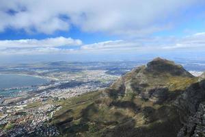 Luftaufnahme der Kapstadt vom Tafelberg