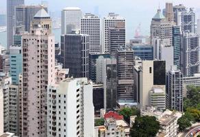 Hong Kong Innenstadt überfüllte Gebäude foto