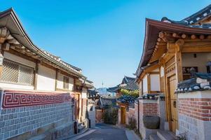 Bukchon Hanok Village, traditioneller koreanischer Stil foto